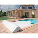 VOLET HORS SOL IGLOO2 PISCINE 8X4 LAME ET COFFE BLANCS