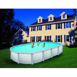 Piscine J2000 ovale 5.49x3.66x1.32H (structure+liner)