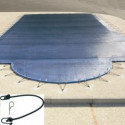 COUVERTURE FILET BLEUE POUR PISCINE 9X4M