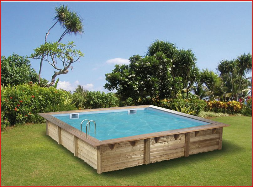 Piscine bois carre for Piscine hors sol enterrable