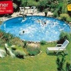 La piscine enterrée ZODIAC en structure métallique galvanisée ronde