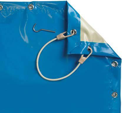 B che hiver pour piscine vendue au m2 avec fixation piton inox - Piscine enfant avec bache ...