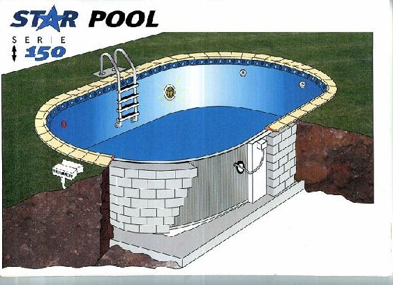 Piscine acier galvanise enterr e for Piscine zyke