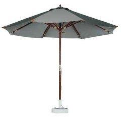 Le parasol en bois couleur taupe
