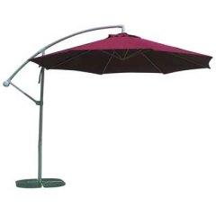 Le parasol excentré couleur rubis