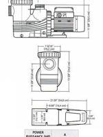 les dimensions de la pompe pour piscine enterrées