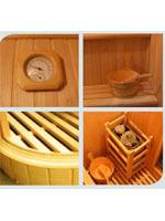 Le sauna à pierres volcaniques et ses accessoires