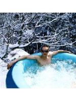 Le spa gonflable en hiver