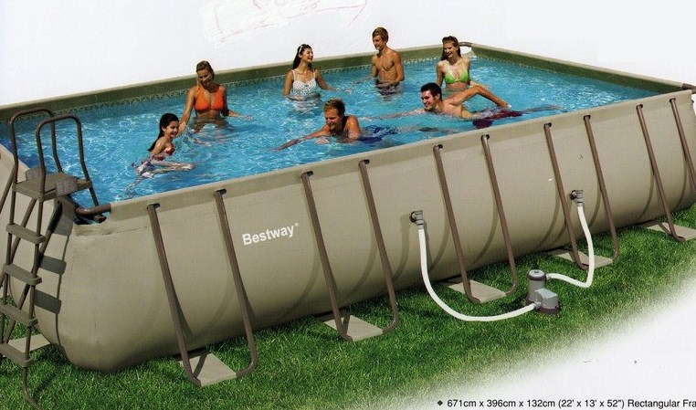 Piscine autoport e rectangulaire bestway - Piscine tubulaire bestway rectangulaire ...