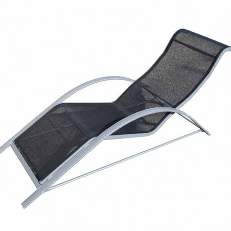 Chaise relax alu et toile
