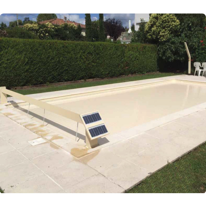 Volet roulant hors sol opool one for Volet piscine hors sol solaire