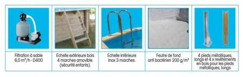 Piscine bois hors sol nortland azura rectangulaire x for Accrocher liner piscine