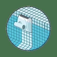 Robot nettoyeur du fond, des parois et de la ligne d'eau
