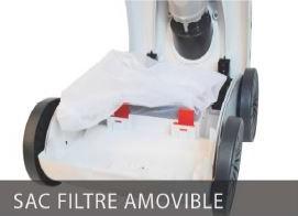Robot avec filtre sac amovible