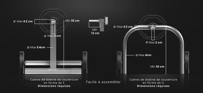 Dimension enrouleur électrique piscine