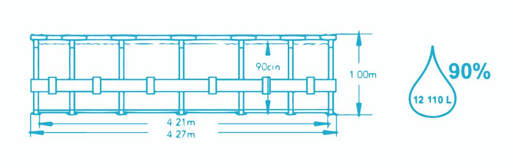 Dimensions piscine 4.27x1.00m