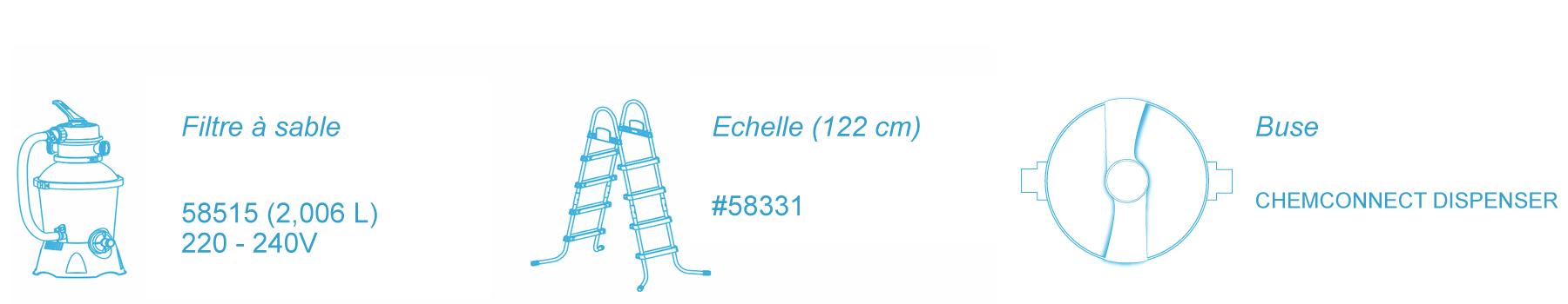 Piscine Tubulaire Bestway 4 12m X 2 01m X 1 22m Filtre Sable