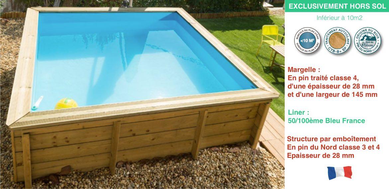 Piscine tropic junior 226 x 226 cm piscine zyke for Piscine bois zyke