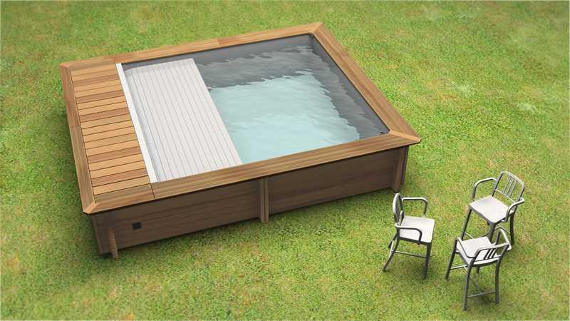 Piscine urbaine x x m piscine zyke for Piscine bois zyke