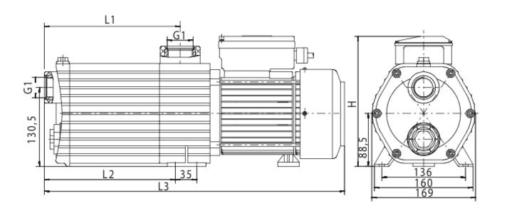 Schéma de la pompe Norystar