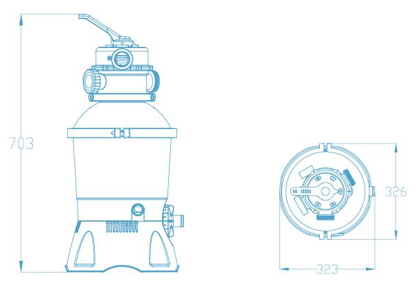 Pompe de filtration à sable Bestway