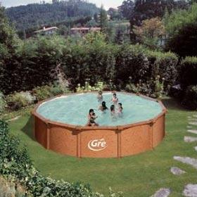 la piscine hors sol ronde 457 de diamtre en dtails - Piscine Hors Sol Metal Aspect Bois