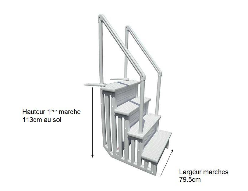 Escalier Intérieur Résine Piscine Réglable