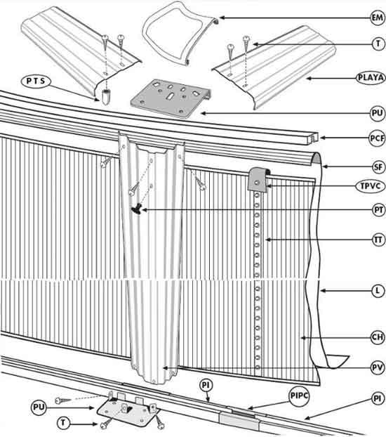 Piscine zyke for Rail piscine hors sol
