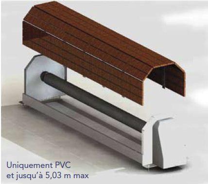 Couverture automatique capcir eco banc plax bois for Tarif volet roulant piscine